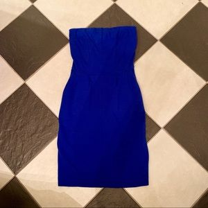 •Express• Strapless Cobalt Blue Dress